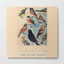 French Birds Metal Print