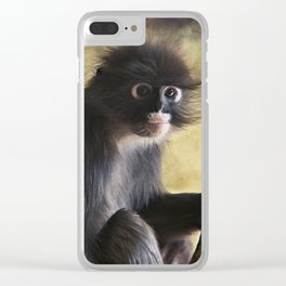 Spectacled Langur Clear iPhone Case