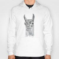 llama Hoodies featuring Llama by Condor