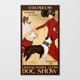 Chicago Kennel Club's Dog Show (1902) Canvas Print