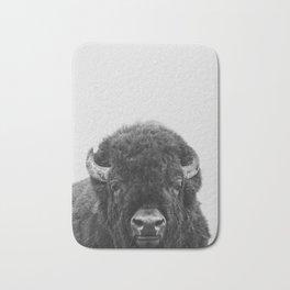 Buffalo Print, Bison Wall Art, Photography Print Bath Mat