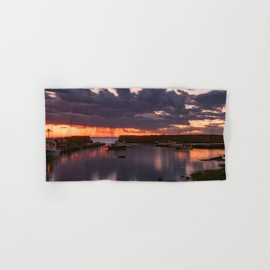 Rainy Lanescove Sunset Hand & Bath Towel