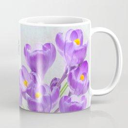 Chickadee and Purple Crocus Coffee Mug
