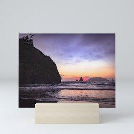 Houda Point beach at sunset Mini Art Print