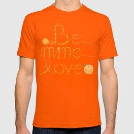 Valentine's Day Orange Peel Heart T-shirt
