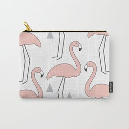 vintage pink flamingos Carry-All Pouch