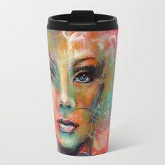 Little Colorgirl Original Painting Travel Mug