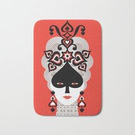 The Queen of spades Bath Mat