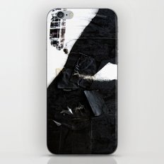Black on white iPhone Skin