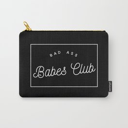 BAD ASS BABES CLUB B&W Carry-All Pouch