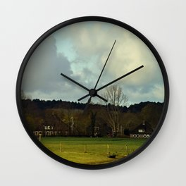 Farm view Wall Clock