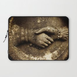 'Til death do us part' cemetery hands Laptop Sleeve