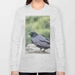 Crows Everywhere Are Equally Black Long Sleeve T-shirt