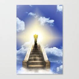 Angel On A Stairway To Heaven Canvas Print