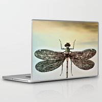 dragonfly Laptop & iPad Skins featuring DRAGONFLY  by Pia Schneider [atelier COLOUR-VISION]