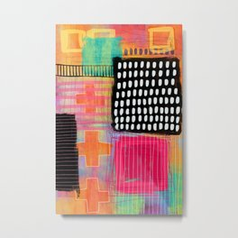 sometimes it all works - abstract painting Metal Print