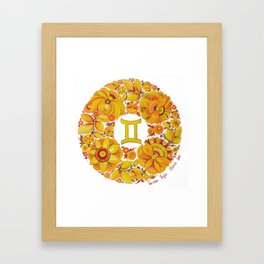 Gemini in Petrykivka style (with signature) Framed Art Print
