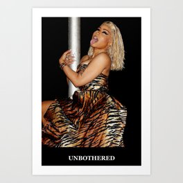 unbothered black Art Print
