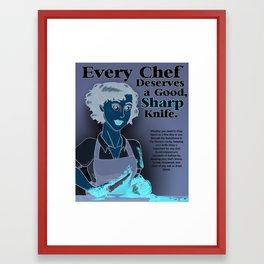 Chef's Knife Framed Art Print