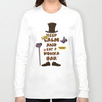 willy wonka Long Sleeve T-shirts featuring Wonka Bar by le.duc