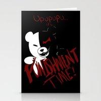 dangan ronpa Stationery Cards featuring Dangan Ronpa: Monokuma's Punishment by Michelle Rakar