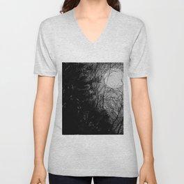 Moonlit trees Unisex V-Neck
