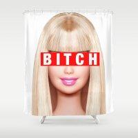 barbie Shower Curtains featuring Barbie Bitch  by Amanda Letasz
