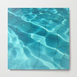 Water / Swimming Pool (Water Abstract) Metal Print