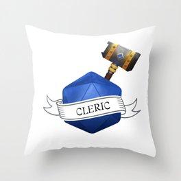 D20 Cleric Throw Pillow