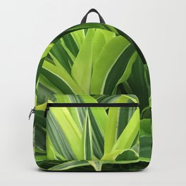 Exotic Lush Green Leaves Backpack
