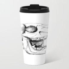 Bear Skull Metal Travel Mug