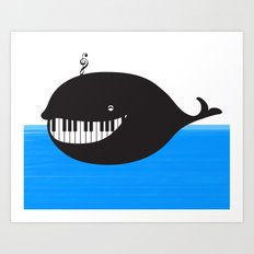 whale  (water proof piano!) Art Print