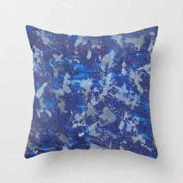 Blues Cosmos #2 Throw Pillow