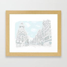 Gran Vía, Madrid Framed Art Print