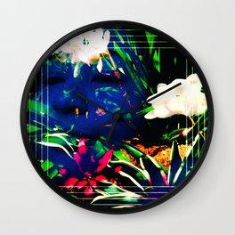 Layered Reality Blue Face Wall Clock