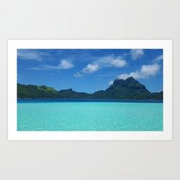 Bora Bora Ocean Art Print