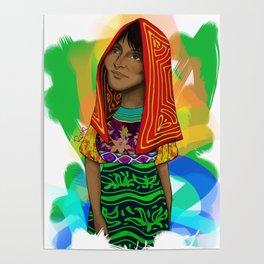 Ustup - kuna/guna girl Poster