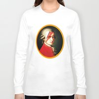 mozart Long Sleeve T-shirts featuring Mozart Bowie by rodalume