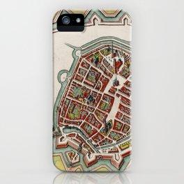 Vintage Groningen Netherlands Map (1636) iPhone Case