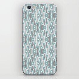 Tribal Diamond Pattern in Seafoam and Grays iPhone Skin