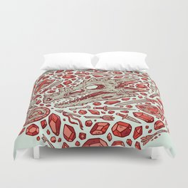 Hoard of the Gem Dragon | Ruby Duvet Cover