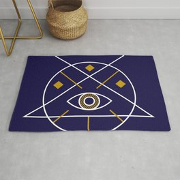Sacred Geometry All Knowing Eye Cool Abstract Design Rug