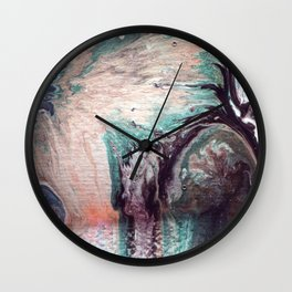 Great wave of doubt Wall Clock