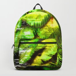 Green Feathers Abstract 4 Backpack