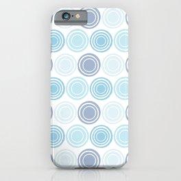 Concentric Circles Modern Geometric Pattern - Light Blue iPhone Case