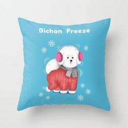 Bichon Freeze Throw Pillow