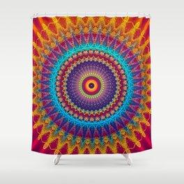 Fire and Ice Mandala Shower Curtain