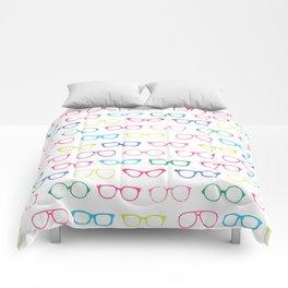Retro Vintage Nerdy Glasses Pattern Comforters