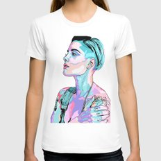 Halsey Womens Fitted Tee LARGE White