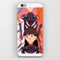 evangelion iPhone & iPod Skins featuring Evangelion Kids by minthues